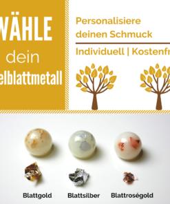 Edelblattmetallauswahl milk-design Manufaktur