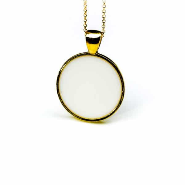 Halskette Flaches Gold