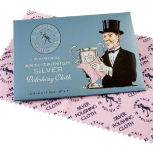 Poliertuch für Silberschmuck