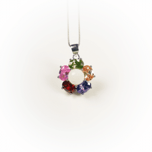Halskette Blumenperle