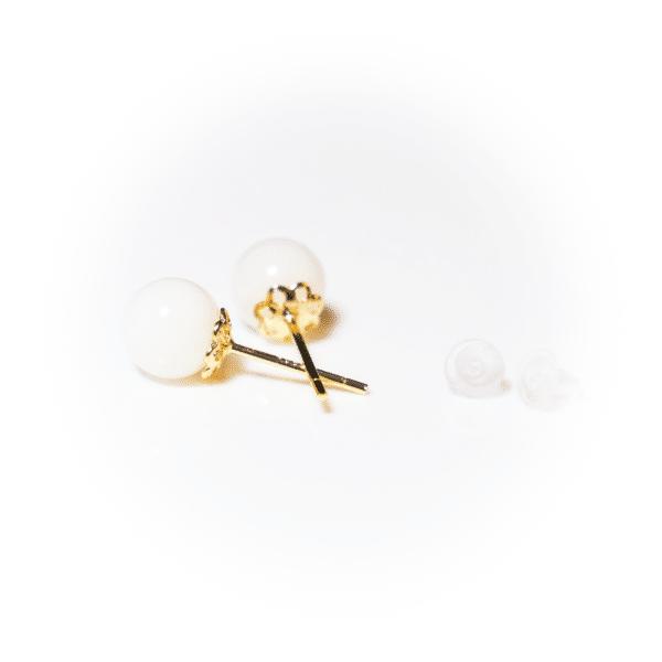 Goldene Perlenstecker | milk-design Manufaktur