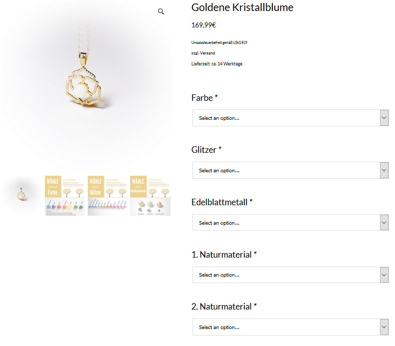 Personalize your jewelry | ordering process | milk-design Manufaktur