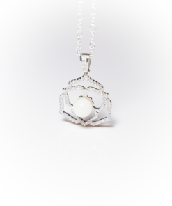 Platinum crystal flower | Remembrance jewellery