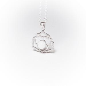 Platin Kristallblume | Erinnerungsschmuck