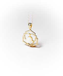 Golden Crystal Flower | Remembrance jewellery
