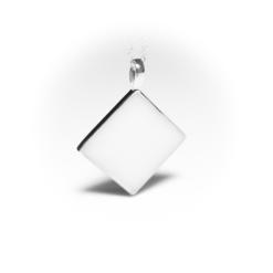 Silver rhombus | milk-design Manufaktur
