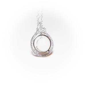 Silberner Kristallstern | milk-design Manufaktur