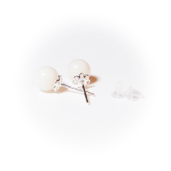 Silberner Perlenstecker | milk-design Manufaktur