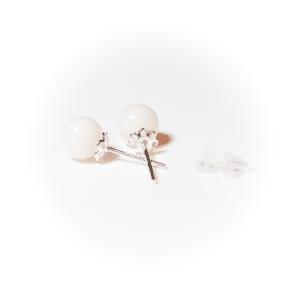 Silver pearl plug | milk-design Manufaktur