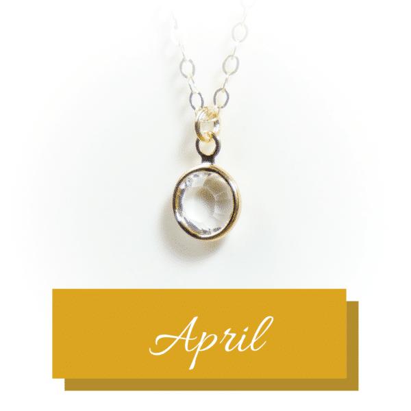 Goldener Geburtsstein | April | Erinnerungsschmuck