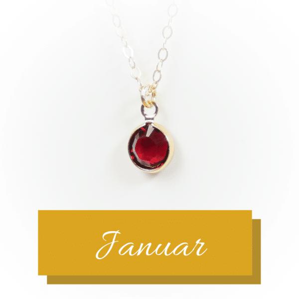 Goldener Geburtsstein | Januar | Erinnerungsschmuck