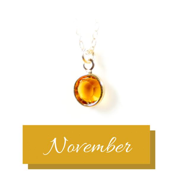 Goldener Geburtsstein | November | Erinnerungsschmuck