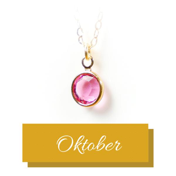 Goldener Geburtsstein | Oktober | Erinnerungsschmuck
