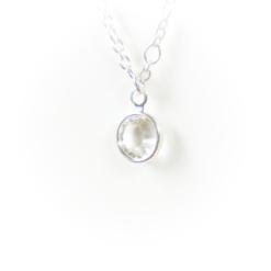 Silver birthstone | April | Remembrance jewellery
