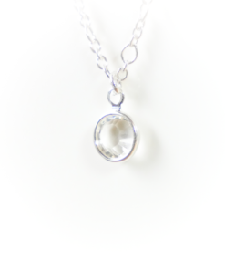 Silver birthstone | April | Remembrance jewellery