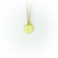 Golden letter platelet | milk-design Manufaktur